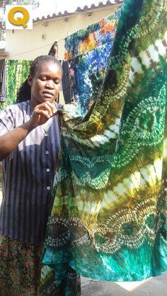 Fotos - Mozambique - Proceso creación telas