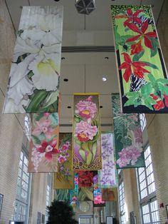 at US Botanic Garden, WA DC, various artists