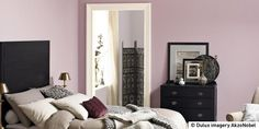 Dusky violets and rich pinks are perfect for adding snug warmth to your bedroom. These shades really capture that feeling of complete comfort just like wrapping yourself up in a knitted blanket.