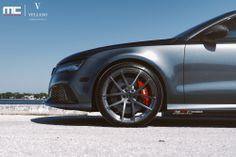 """check out this stunning Audi RS7 on Vellano VM17 21"""" Monoblock beautiful German Ride sitting on our wheels custom cut and finished to our customers desires.  please let us know what you guys think."""