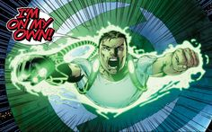 Hal Jordan trades in his GL ring for a gauntlet (no, not THAT one) in GREEN LANTERN by writer Robert Venditti.