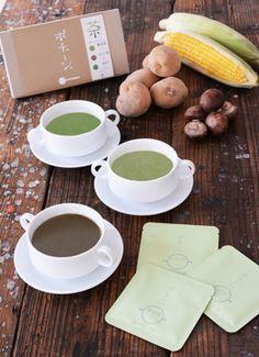 お茶の香り豊かな新感覚の和風ポタージュポチャージュ静岡茶など3種が新発売