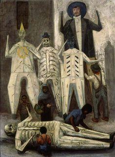 """Luis Nishizawa, """"Juderos"""" 1952. Los """"Judas"""" son un tema recurrente en la obra de este maestro de la pintura mexicana del siglo XX."""