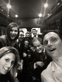 Tony's selfie of Scandal Cast on Scandal Party bus in NYC 5-13-14