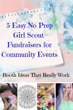 Easy Girl Scout Fundraiser Ideas for troupes at craft fairs and community events, 5 easy fundraisers with no preparation for Girl Scouts to earn extra money for travel and services. Girl Scout Leader, Girl Scout Troop, Fundraising Activities, Fundraisers, Easy Fundraising, Girl Scout Juniors, Daisy Girl Scouts, Girl Scout Crafts, Community Events