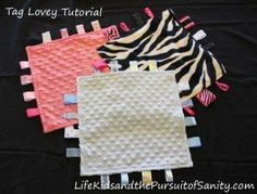 how to make a tag lovey baby blanket tutorial instructions