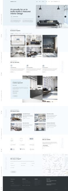 Interior Design and Architecture Website