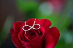 Infinity Necklaces for the Bridesmaids | A Winter Valentine's Day Wedding at Running Deer Golf Club