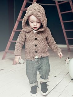 Knit Baby-hoodie