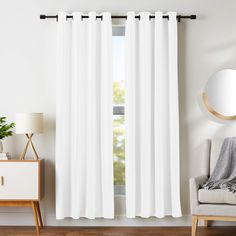 These White Blackout Curtains give you protection from the harmful rays of the sun and protect your valuable furniture. Black Curtains, Kids Curtains, Velvet Curtains, Lined Curtains, Grommet Curtains, Door Curtains, Bedroom Curtains, Curtain Panels, Insulated Curtains