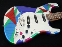 GuitarPaintGuys Isosceles Custom Guitar by guitarpaintguys