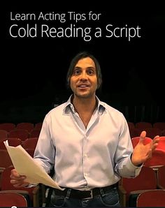 Cold reading a script is done in many auditions, so these tips are handy!