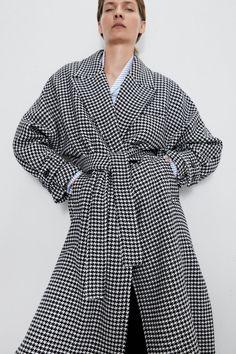 Hooded Trench Coat, Belted Coat, Houndstooth Coat, Suede Coat, Linen Jackets, Oversized Coat, Outerwear Women, Zara Women, Coats For Women