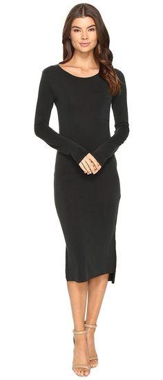 Culture Phit Fleta Long Sleeve Midi Dress with Pocket (Black) Women's Dress - Culture Phit, Fleta Long Sleeve Midi Dress with Pocket, 17C650HC74, Apparel Top Dress, Dress, Top, Apparel, Clothes Clothing, Gift, - Street Fashion And Style Ideas
