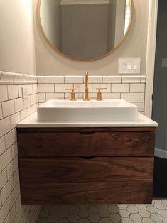 Amazing DIY Bathroom Ideas, Bathroom Decor, Bathroom Remodel and Bathroom Projects to greatly help inspire your master bathroom dreams and goals. Floating Bathroom Vanities, Zen Bathroom, Floating Vanity, White Bathroom, Modern Bathroom, Vanity Bathroom, Bathroom Ideas, Master Bathrooms, Minimalist Bathroom