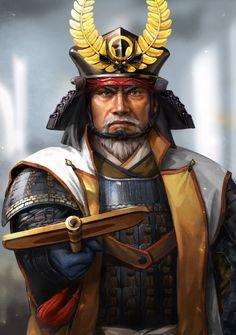 Amaterasu, Character Inspiration, Character Art, Character Design, Fantasy Dragon, Fantasy Art, Samourai Tattoo, Tokugawa Ieyasu, Samurai Artwork