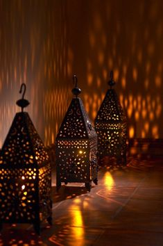 Moroccan Lanterns, great way to provide ambient light to the outskirts of your home.