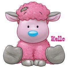 Carte Blanche - My Blue Nose Friends - Frizzie the Lamb Tatty Teddy, Illustration Mignonne, Cute Illustration, Nici Teddy, Cute Images, Cute Pictures, Baby Animals, Cute Animals, Blue Nose Friends