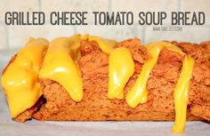 ~Grilled Cheese Tomato Soup Bread!