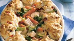 Turn leftover holiday turkey into a comforting casserole. Carrots and broccoli make it a meal in one!