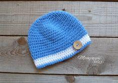 Baby Boy Hat Crochet Baby Hat Button Hat by MoonPoppyDesign