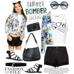 How To Wear Light Topping Summer Bomber Jacket Outfit Idea 2017 - Fashion Trends Ready To Wear For Plus Size, Curvy Women Over 20, 30, 40, 50
