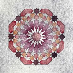 Islamic Art Pattern, Arabic Pattern, Pattern Art, Sacred Geometry Patterns, Geometry Art, Arabesque, Geometric Drawing, Arabic Art, Turkish Art