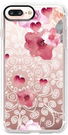 Casetify iPhone 7 Plus Classic Grip Case - HAPPY  SPRING VINTAGE & LACE by Monika Strigel by Monika Strigel® #Casetify