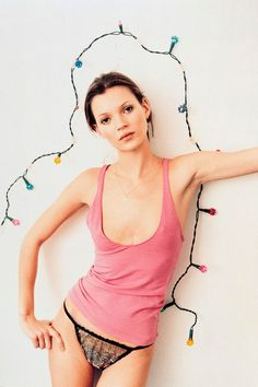 One of the most famous early Vogue pictures of Kate Moss, this image appeared in Under Exposure by Corinne Day - in the June 1993 issue.