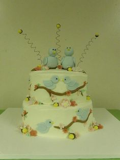 The Birds and the Bees Baby Shower Cake