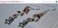 On Sale Now 925 Sterling Silver Orange Black Silver by dsmenagerie, $16.99