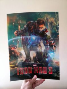 Iron Man 3 Lenticular Poster Flip effect New11.93x15.87in