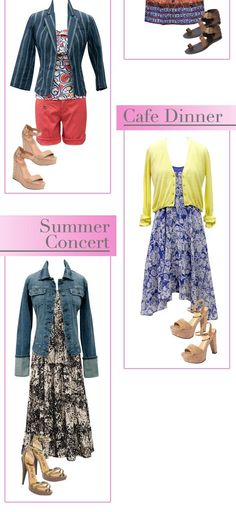 willow dress with prepster cardigan is so cute and summery- and love the skirt as a dress with the jean jacket!!!