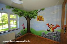 toddler murals baby rooms designs painted boy room wall nursery for boys amp girls