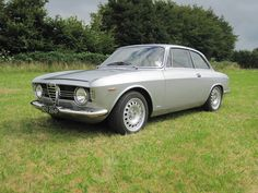 This is a very nice version of the classic giulia sprint. This was one of the first cars I noticed as a child. I love the step nose front of the original and the proportions are perfect. It looks great in silver with contrasting dark red factory leather interior, GTA style wheels and lowered ride height. This is the one I would have in my dream garage with a 1300 engine.