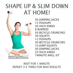 Shape Up & Slim Down At Home - Healthy Fitness Workout Sixpack - Yeah We Train !