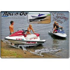 Personal Watercraft Shore Dock from DiscountRamps.com is a convenient & portable way to store your Jet Ski between rides. Has a manual crank, weighs just 54 lbs, and is width-adjustable for different sizes of PWCs.
