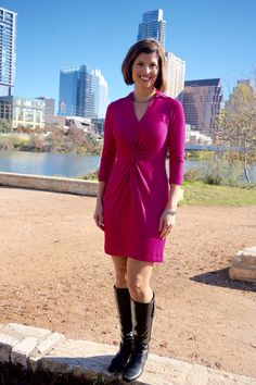 December 16, 2014 - promo shoot at Auditorium Shores!  Bought the dress from Neiman Marcus Last Call and got a great deal.  Less than $40.  It is by Muse.  So fun to enjoy a gorgeous day outside at one of Austin's most scenic spots!