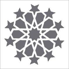 Moroccan Large Circle on Reusable 10MIL Laser-Cut Stencil - pearldesignstudio