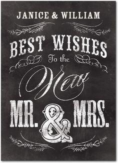 Mr. & Mrs. - Wedding Congratulations Cards from Treat.com #wedding