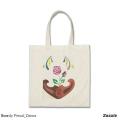 Our Rose tote bags are great for carrying around your school & office work, or other shopping purchases. Design Your Own, Abstract Art, Fashion Accessories, Reusable Tote Bags, Stitch, Rose, Gifts, Color, Style