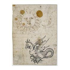 Albrecht Dürer, The Sun, the Moon and a Basilisk, a drawing Germany, around AD 1512