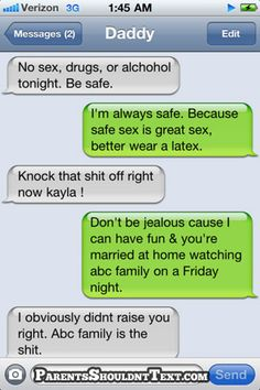 haha, I would have this convo with my dad