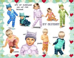 Clothing Mix for toddlers at OleSims - Sims 3 Finds