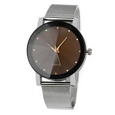 Fashion Brand Malloom Women Watch Crystal Stainless Steel Analog Quartz Wrist Watch Bracelet Black Silver Dress watches