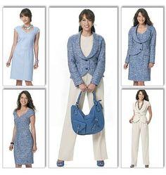 Butterick B5570 Lifestyle Wardrobe Jacket, Dress, Waistcoat & Trousers Sewing Pattern/patron de couture mode de vie garde-robe. Tailles: 58-61-64-67 Poitrine: 77-80-83-87 cm. Instructions en français et anglais: Amazon.fr: Butterick: Livres