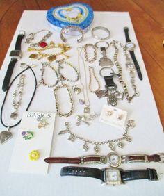Jewelry Lot 28 Pcs BRIGHTON, Watches, Sterling Silver, 925, Brighton Tin, NICE! #BrightonLaurenmbMacysCroftBarrow