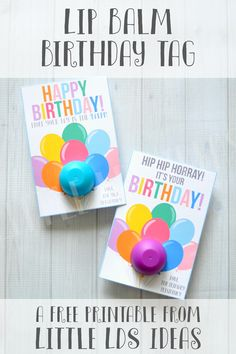 Happy Birthday Lip Balm Tag From