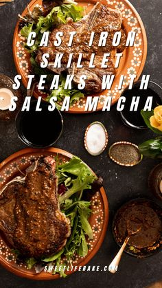 #AD Learn how easy it is to make steaks and salsa macha today on Sweet Life in collaboration with @beeflovingtx #beef #steaks #salsamacha Cast Iron Skillet Steak, Beef Steaks, Cast Iron Cooking, Sweet Life, Beef Recipes, Collaboration, Yummy Food, Collection, Meat Recipes