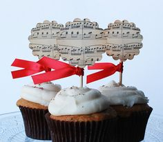 Musical notes cupcake toppers